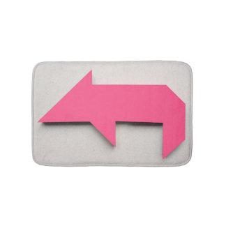 Tapete De Banheiro Tangram cor-de-rosa do porco
