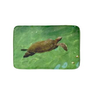 Tapete De Banheiro Tartaruga de mar verde