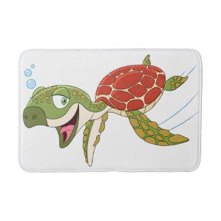 Tapete De Banheiro Tartaruga feliz