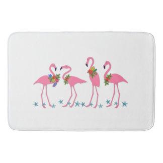 Tapete De Banheiro Temático tropical da estrela do mar dos flamingos