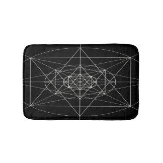 Tapete De Banheiro Terceira geometria sagrado dimensional
