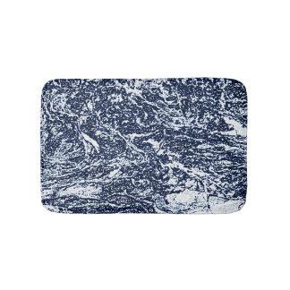 Tapete De Banheiro Teste padrão abstrato azul escuro