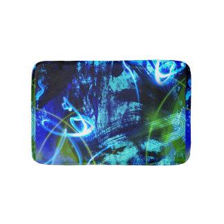 Tapete De Banheiro Teste padrão abstrato do azul