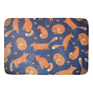 Tapete De Banheiro Teste padrão animal feliz da raposa