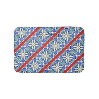 Tapete De Banheiro Teste padrão azul diagonal Thunder_Cove dos