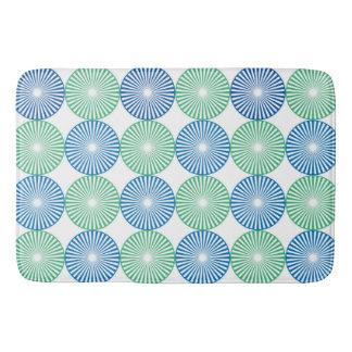 Tapete De Banheiro Teste padrão azul e verde dos círculos