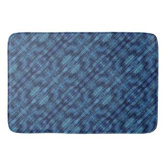 Tapete De Banheiro Teste padrão azul escuro da sarja de Nimes