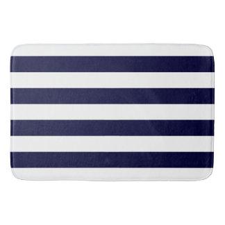 Tapete De Banheiro Teste padrão chique das listras de azuis marinhos