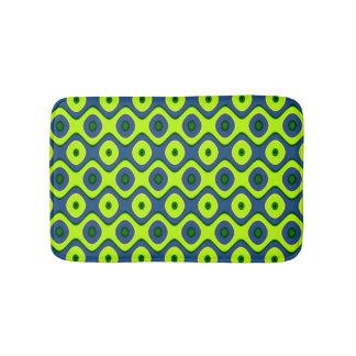 Tapete De Banheiro Teste padrão colorido azul e verde amarelo retro