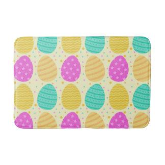 Tapete De Banheiro Teste padrão colorido bonito dos ovos da páscoa