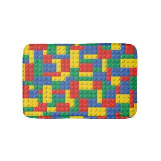 Tapete De Banheiro Teste padrão colorido do fundo dos blocos de