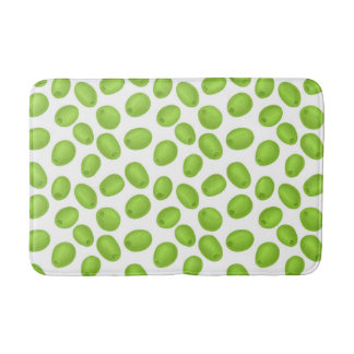 Tapete De Banheiro Teste padrão com azeitonas verdes