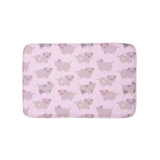 Tapete De Banheiro Teste padrão cor-de-rosa bonito & pontos dos