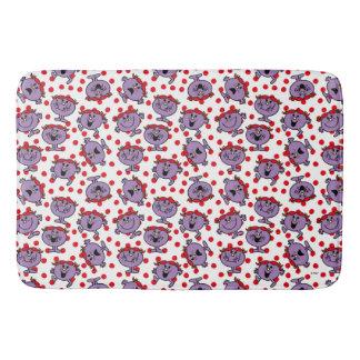 Tapete De Banheiro Teste padrão de bolinhas vermelho pequeno da