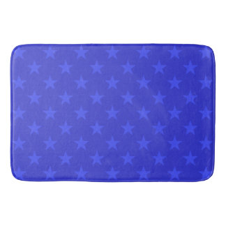 Tapete De Banheiro Teste padrão de estrelas azuis