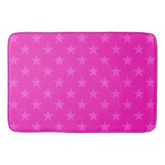 Tapete De Banheiro Teste padrão de estrelas cor-de-rosa