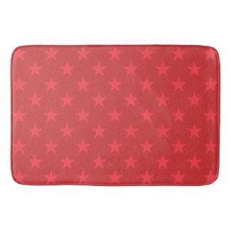 Tapete De Banheiro Teste padrão de estrelas vermelho