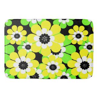Tapete De Banheiro Teste padrão de flor do verde amarelo