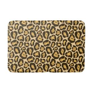 Tapete De Banheiro Teste padrão dourado do impressão do animal