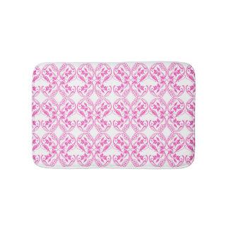 Tapete De Banheiro Teste padrão floral do rosa barroco do estilo