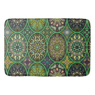 Tapete De Banheiro Teste padrão floral étnico abstrato colorido da