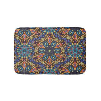 Tapete De Banheiro Teste padrão floral étnico abstrato colorido de da