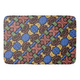 Tapete De Banheiro Teste padrão floral moderno colorido M. Collins