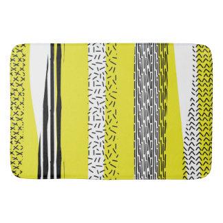 Tapete De Banheiro Teste padrão geométrico da mistura amarela & preta