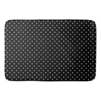 Tapete De Banheiro Teste padrão geométrico pequeno preto e branco