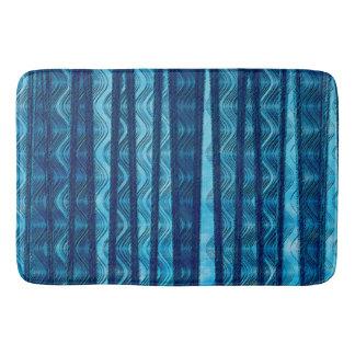 Tapete De Banheiro Teste padrão legal original da onda retro azul