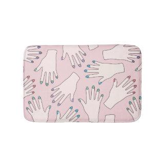 Tapete De Banheiro Teste padrão Manicured do Pastel do rosa do