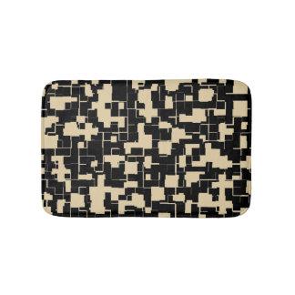 Tapete De Banheiro Teste padrão moderno na moda - preto/Tan