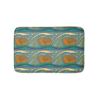 Tapete De Banheiro Teste padrão Nouveau do Seashell do nautilus