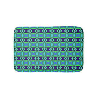 Tapete De Banheiro Teste padrão oval azul e verde retro