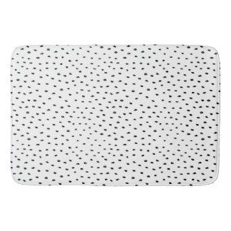 Tapete De Banheiro Teste padrão preto & branco do ponto do Doodle