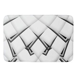 Tapete De Banheiro Teste padrão preto e branco