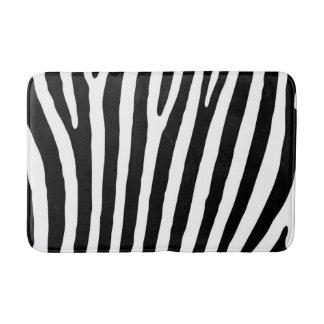 Tapete De Banheiro Teste padrão preto e branco do impressão da zebra