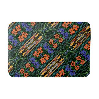 Tapete De Banheiro Teste padrão tropical abstrato colorido