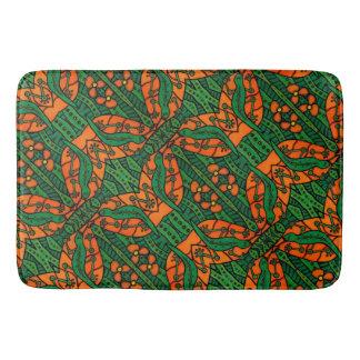 Tapete De Banheiro Teste padrão verde e alaranjado do geco do lagarto