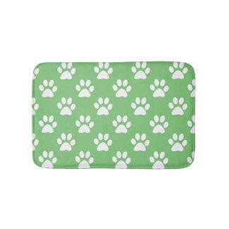 Tapete De Banheiro Teste padrão verde e branco das patas