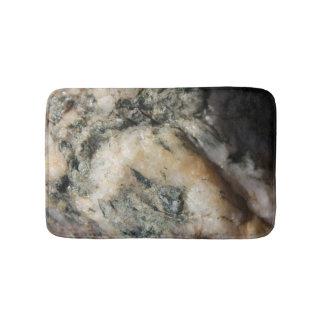 Tapete De Banheiro Textura preto e branco de mineral de quartzo