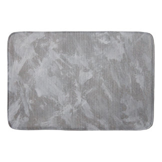 Tapete De Banheiro Tinta branca no fundo de prata