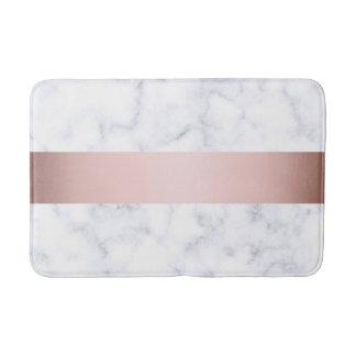 Tapete De Banheiro tira cor-de-rosa do falso do ouro do mármore