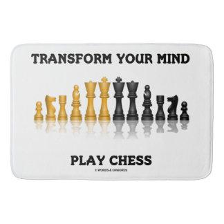 Tapete De Banheiro Transforme seu grupo de xadrez do conselho da