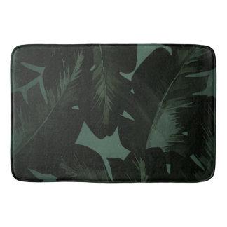 Tapete De Banheiro Trópicos tropicais verdes escuro & pretos das