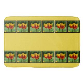 Tapete De Banheiro Tulipas red_009_q_R5 amarelo 05,2