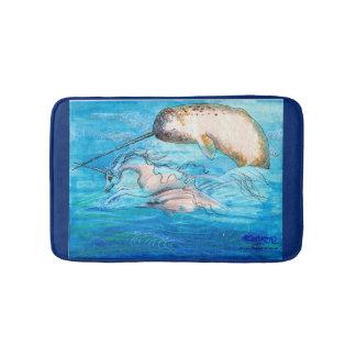 Tapete De Banheiro Unicórnio, golfinho e Narwhal