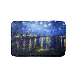Tapete De Banheiro Van Gogh - noite estrelado sobre o Rhone