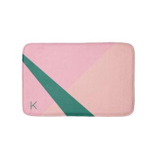 Tapete De Banheiro Verde geométrico elegante do pêssego do rosa