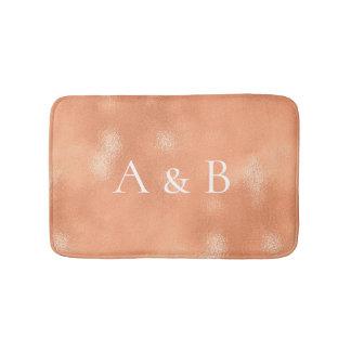Tapete De Banheiro Vidro coral do Lux do cobre do pêssego do ouro